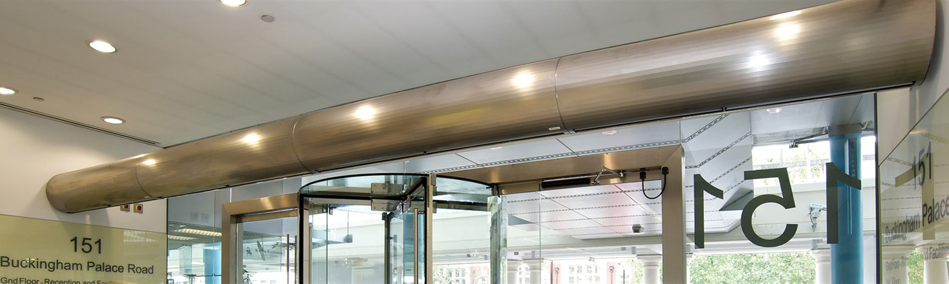 JS Air Curtains goes to great lengths at 151 Buckingham Palace Road