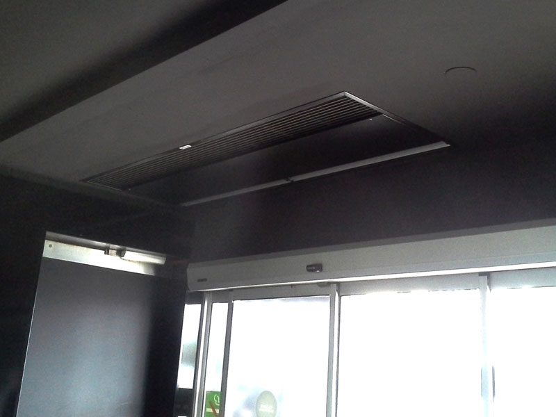 Windbox Suspended Ceiling air curtain at Gran Casino, Barcelona