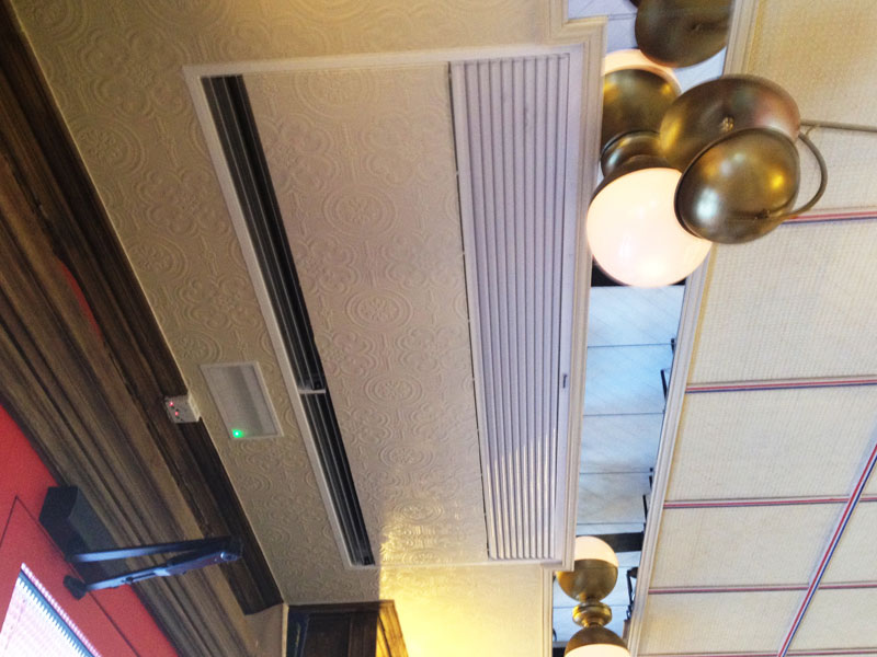 Windbox Suspended Ceiling at Restaurante Martineta Zone Zip, Madrid